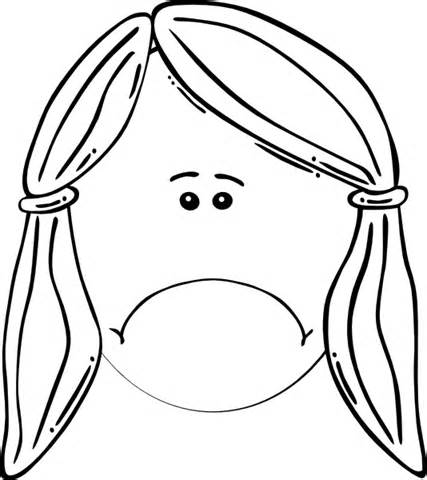 Sad mother coloring clipart