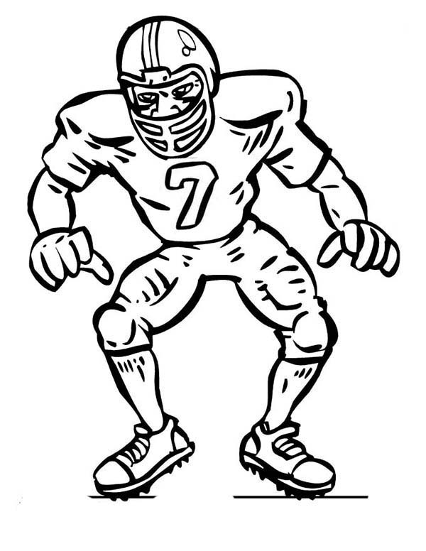 Football defense clip art