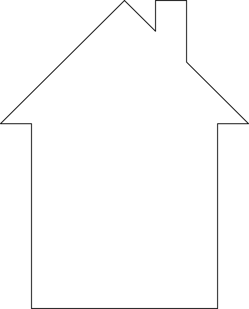 hight resolution of house outline cliparts 2605372 license personal use