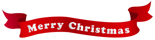 small resolution of merry christmas banner png clipart image