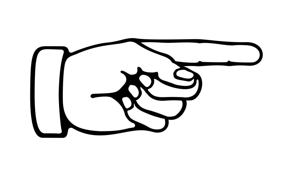 medium resolution of index finger clipart pointing