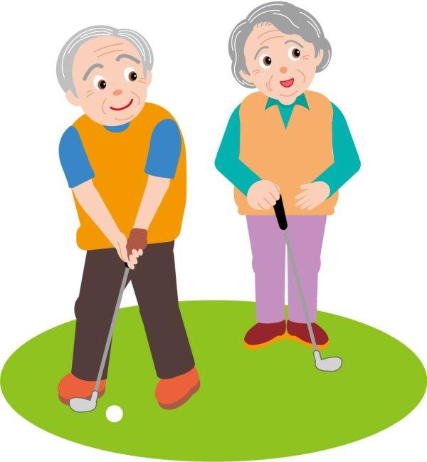 Clip Art Of Elderly Adults Clipart