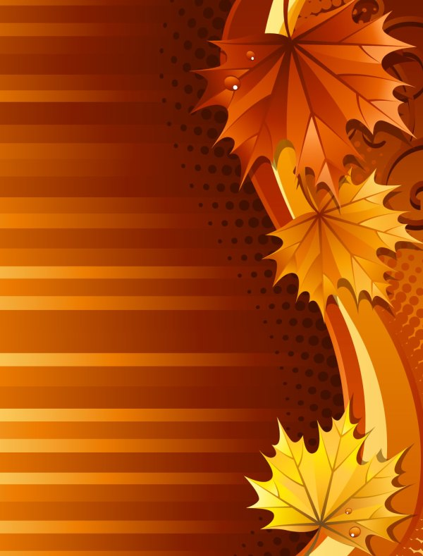 beautiful fall border clipart