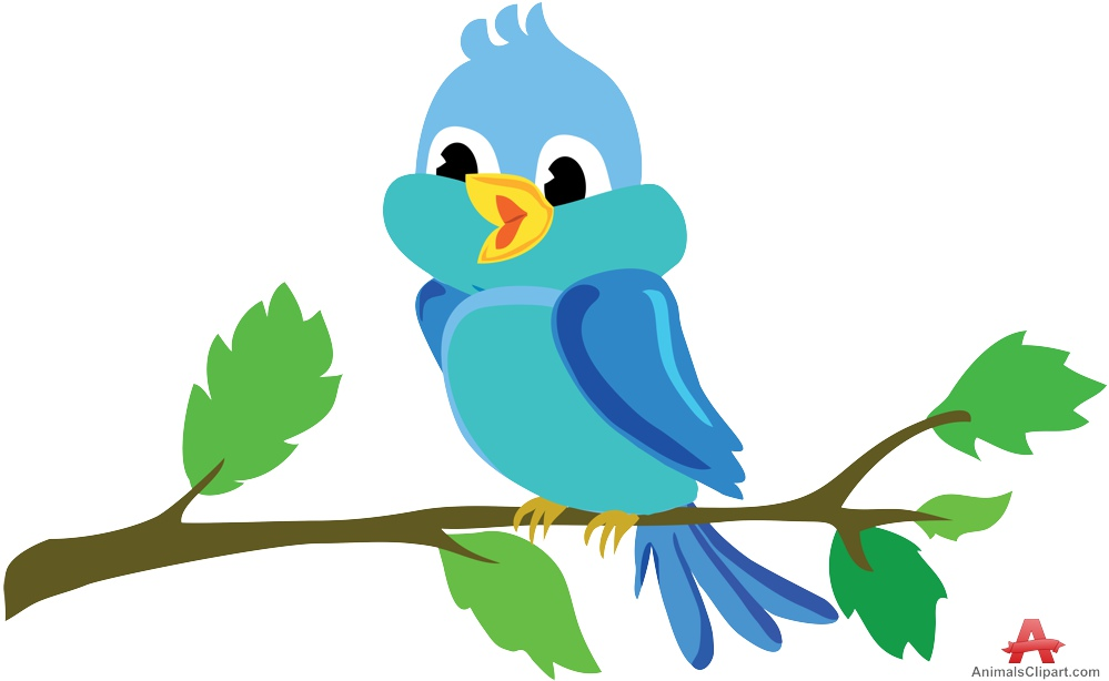 Bird On Branch Clip Art Clip Art Library