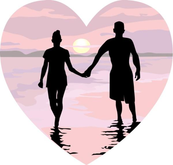 free romantic beach cliparts