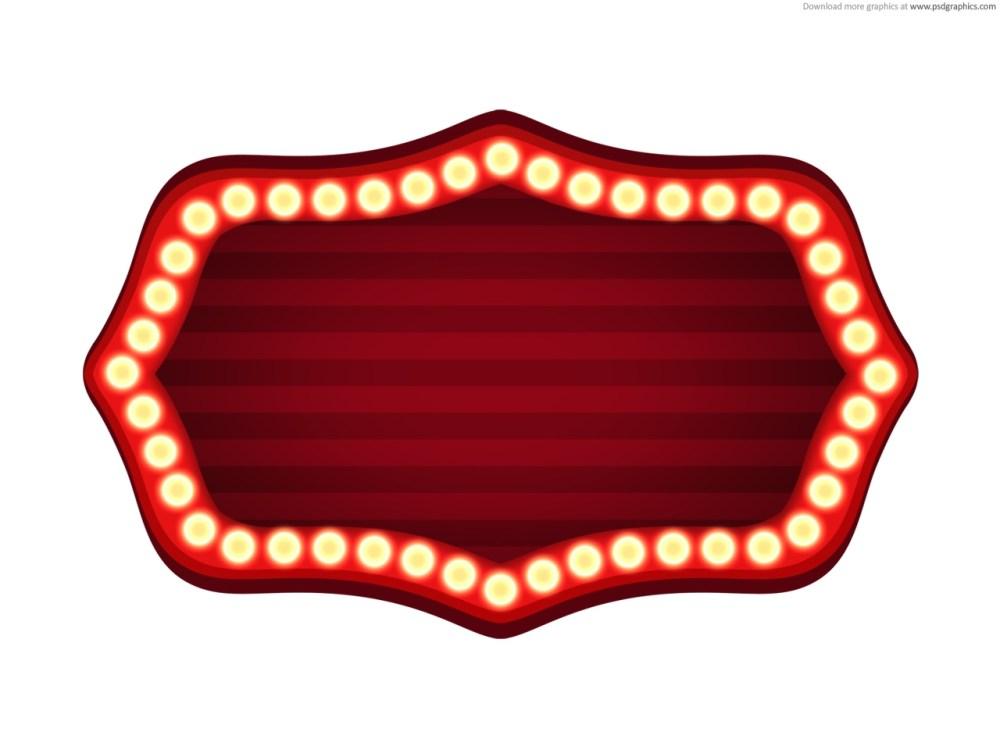 medium resolution of blank movie marquee clipart