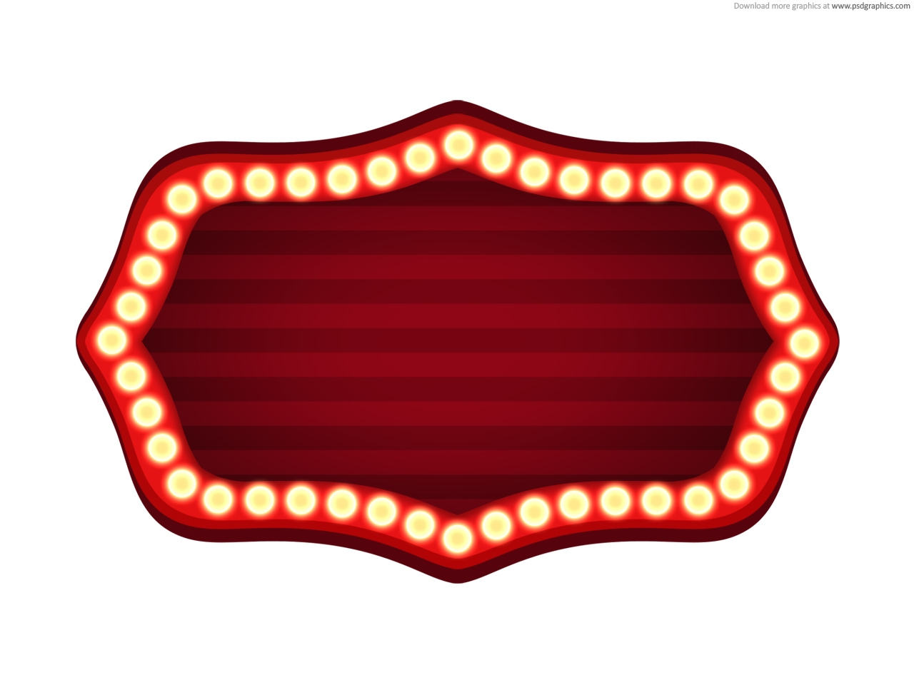 hight resolution of blank movie marquee clipart