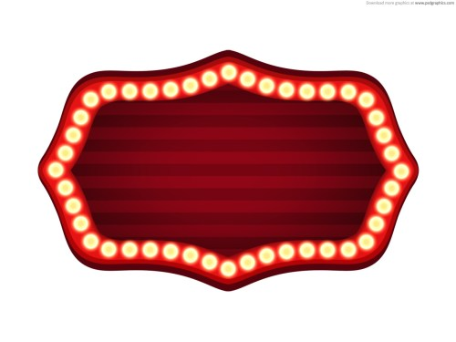 small resolution of blank movie marquee clipart