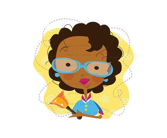 African American Teacher Clipart