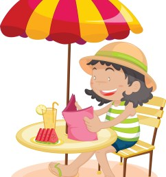 on the beach clip art summer reading clipart free download [ 1798 x 2400 Pixel ]
