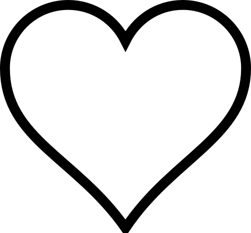 small resolution of black and white heart clipart
