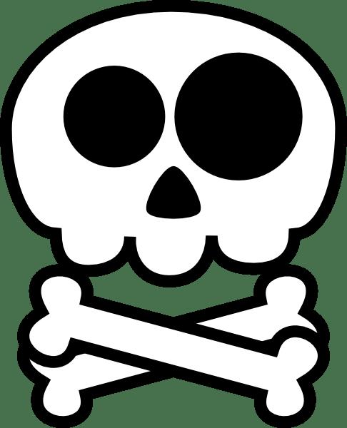 Skull And Crossbones Clip Art Free : skull, crossbones, Crossbones, Cliparts,, Download, Clipart, Library
