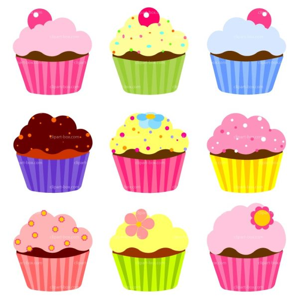 free cute cupcakes cliparts
