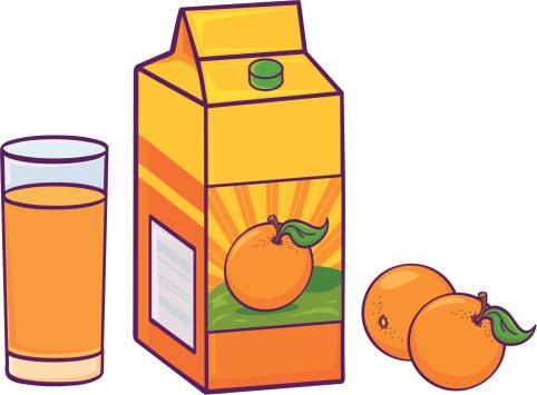 free orange juice cliparts