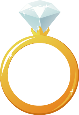 Gold Ring Clipart : clipart, Engagement, Clipart, Library