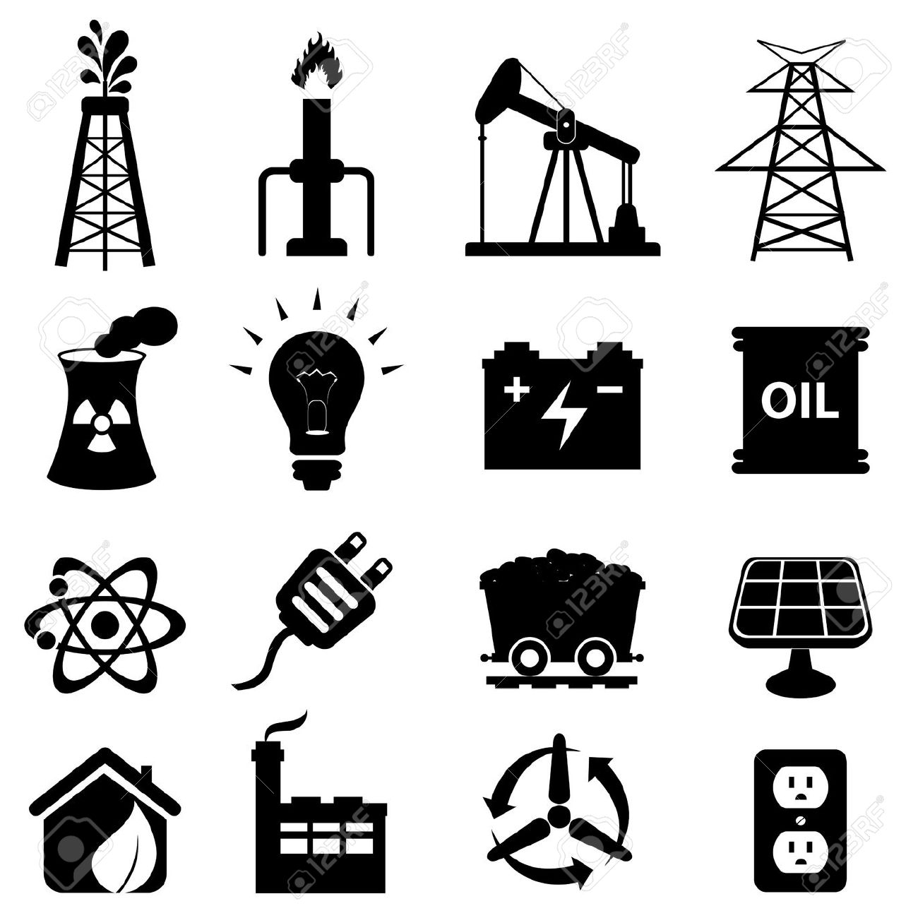 Clipart Oil Refinery