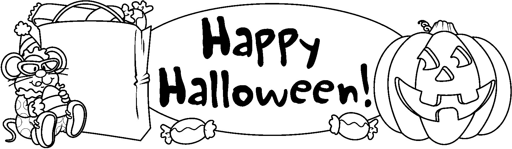 hight resolution of black and white halloween clipart