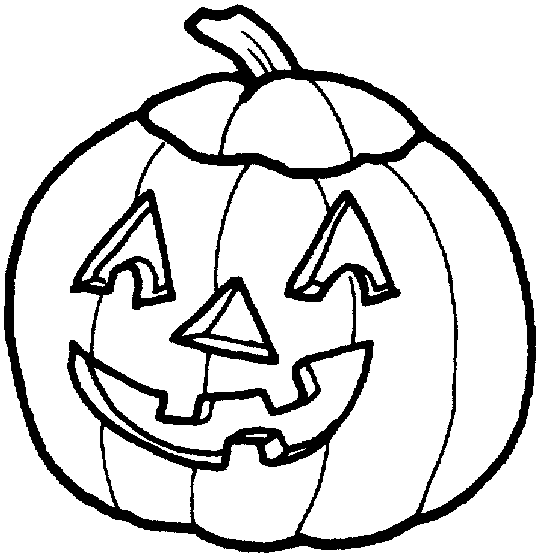 Black And White Halloween Pumpkin Clipart