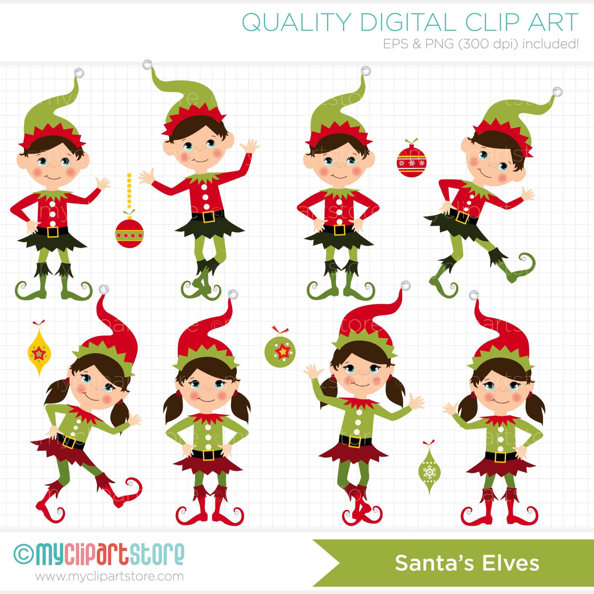 hight resolution of clipart santas elves free