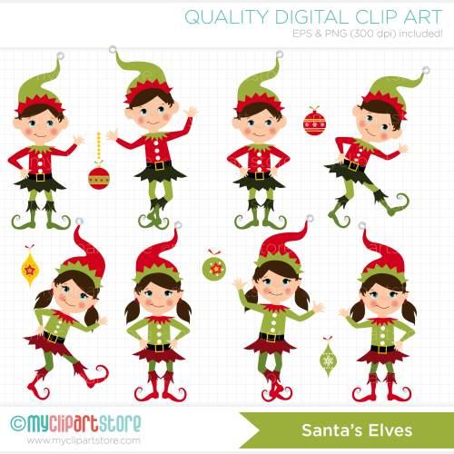 small resolution of clipart santas elves free