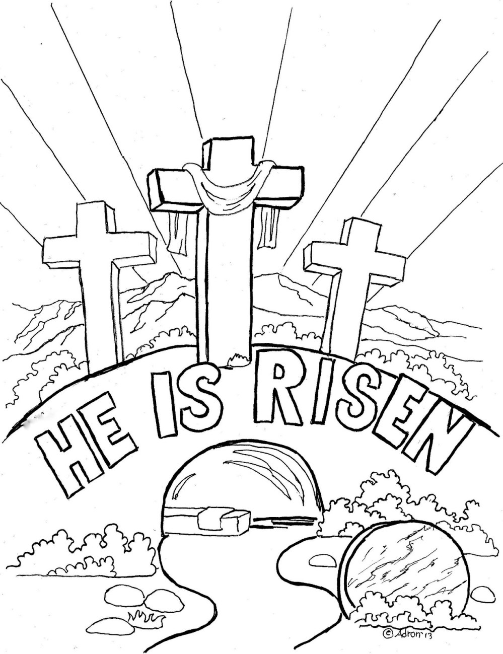 medium resolution of he is risen clipart image color in