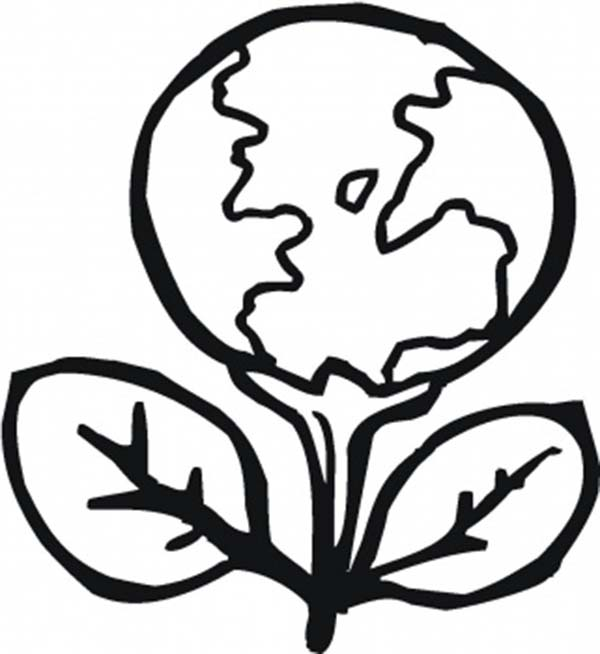 Planting a Healthier Planet on Earth Day Coloring Sheet