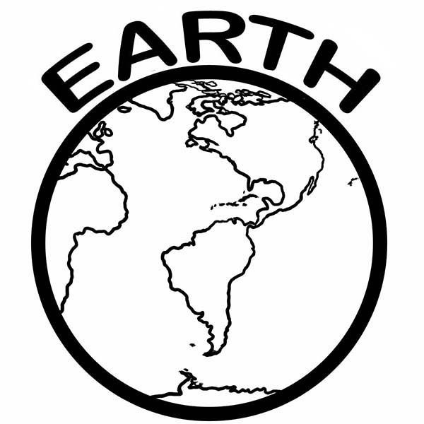 A Healthy Planet on Earth Day Coloring Page