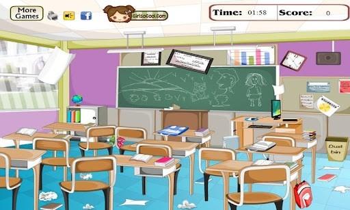 Untidy Classroom Clipart