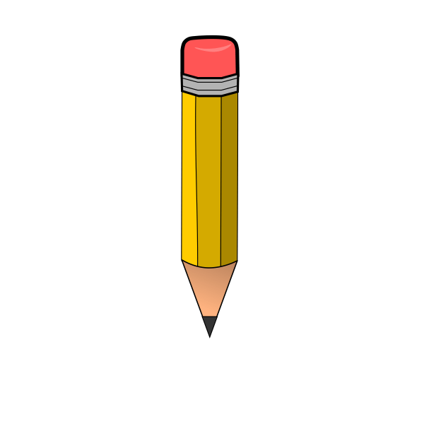 free big pencil cliparts