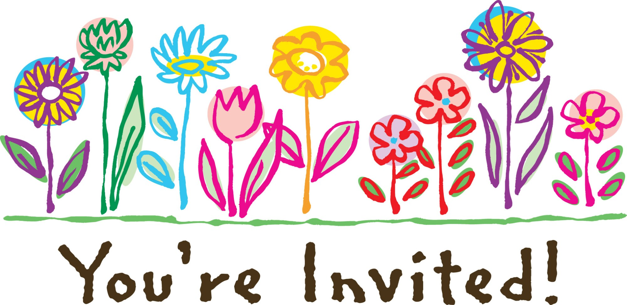 hight resolution of you re welcome clipart you invited birthday clipart