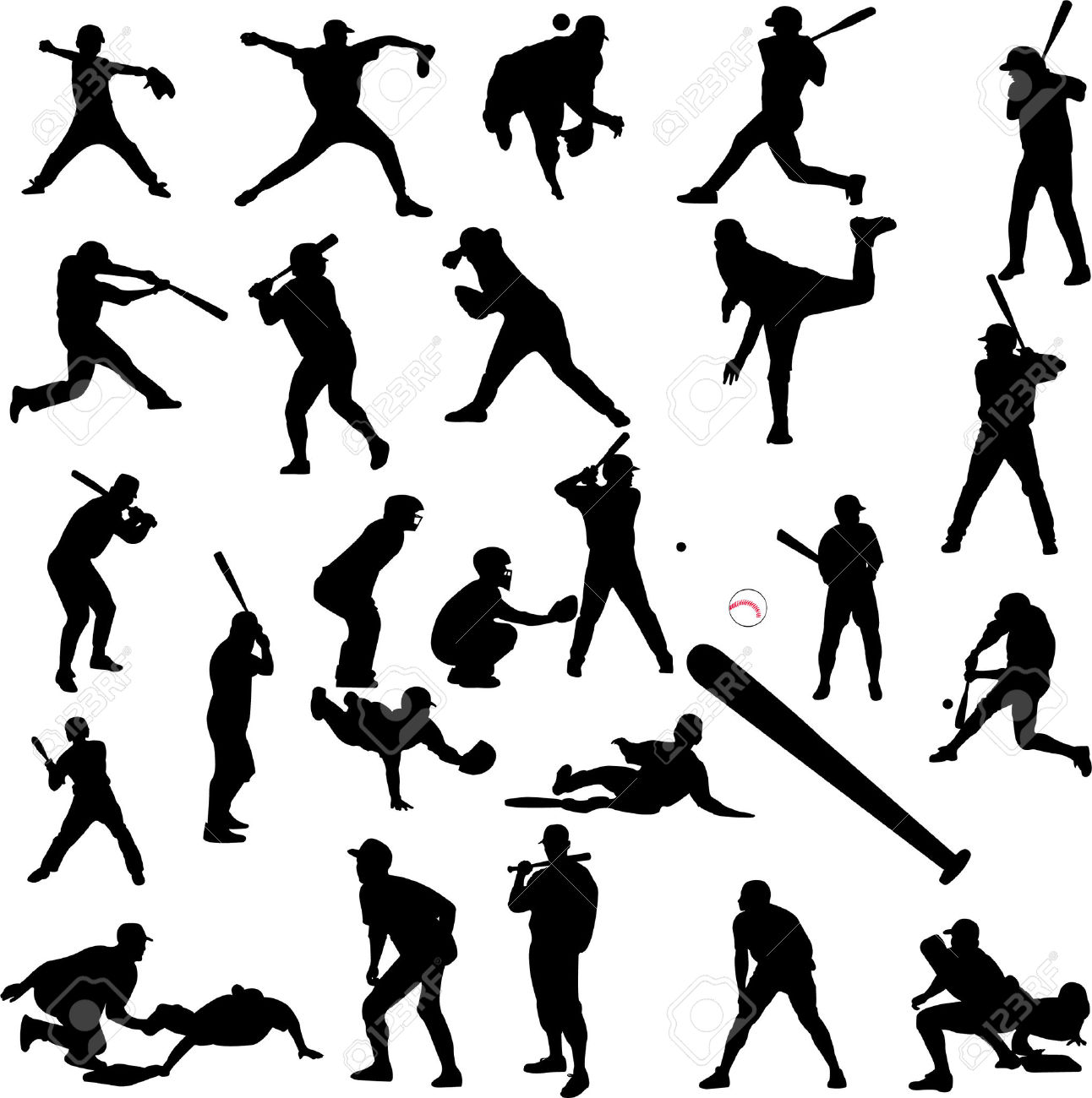 Free Baseball Silhouette Cliparts Download Free Clip Art