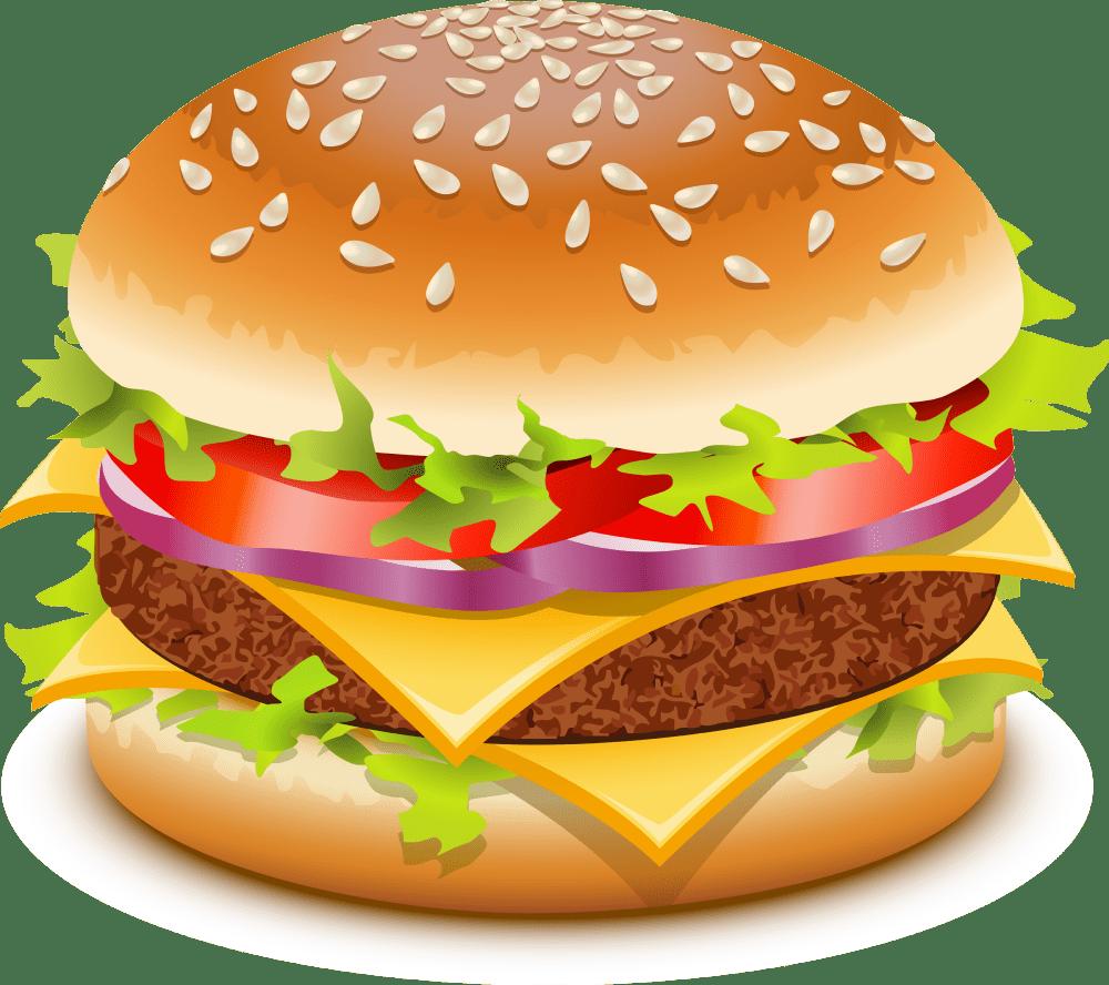 medium resolution of hamburger hotdog clipart no background