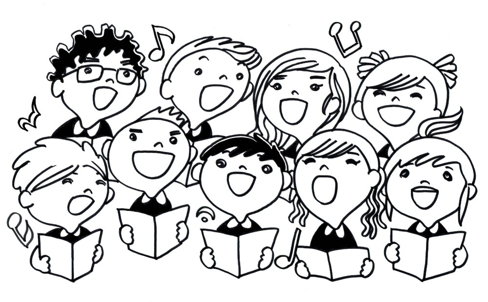 medium resolution of children choir clipart