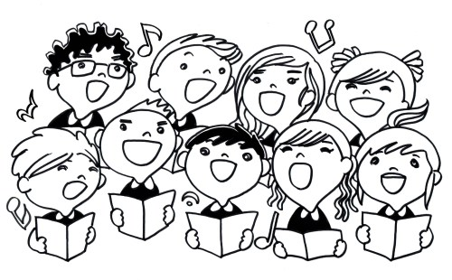 small resolution of children choir clipart