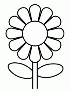 free black sunflower cliparts