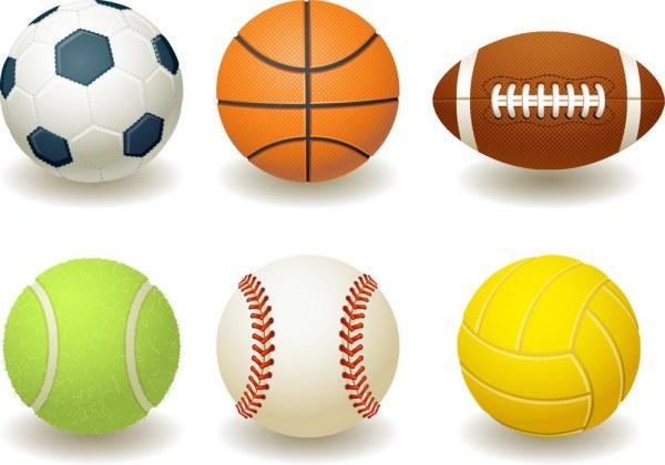 sports balls clipart