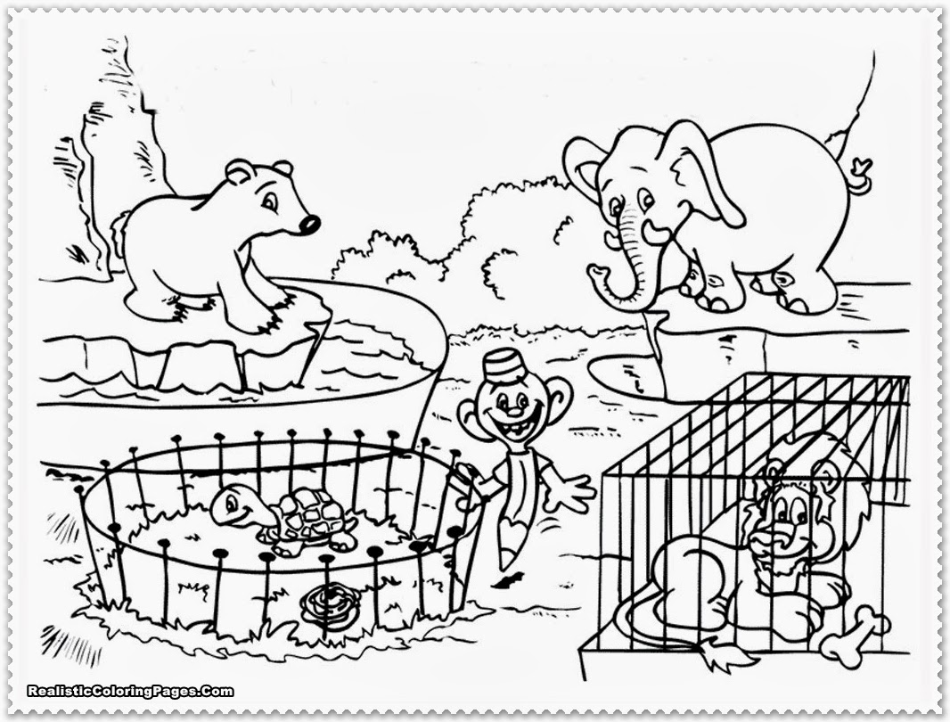 Black And White Zoo Clipart