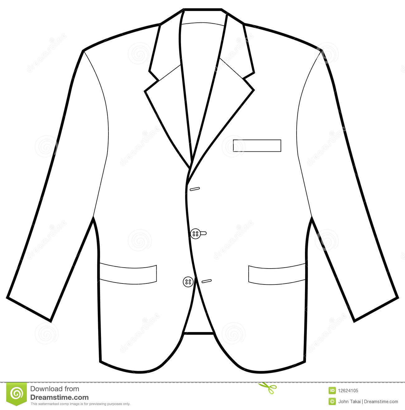 Outline Images Of Coat