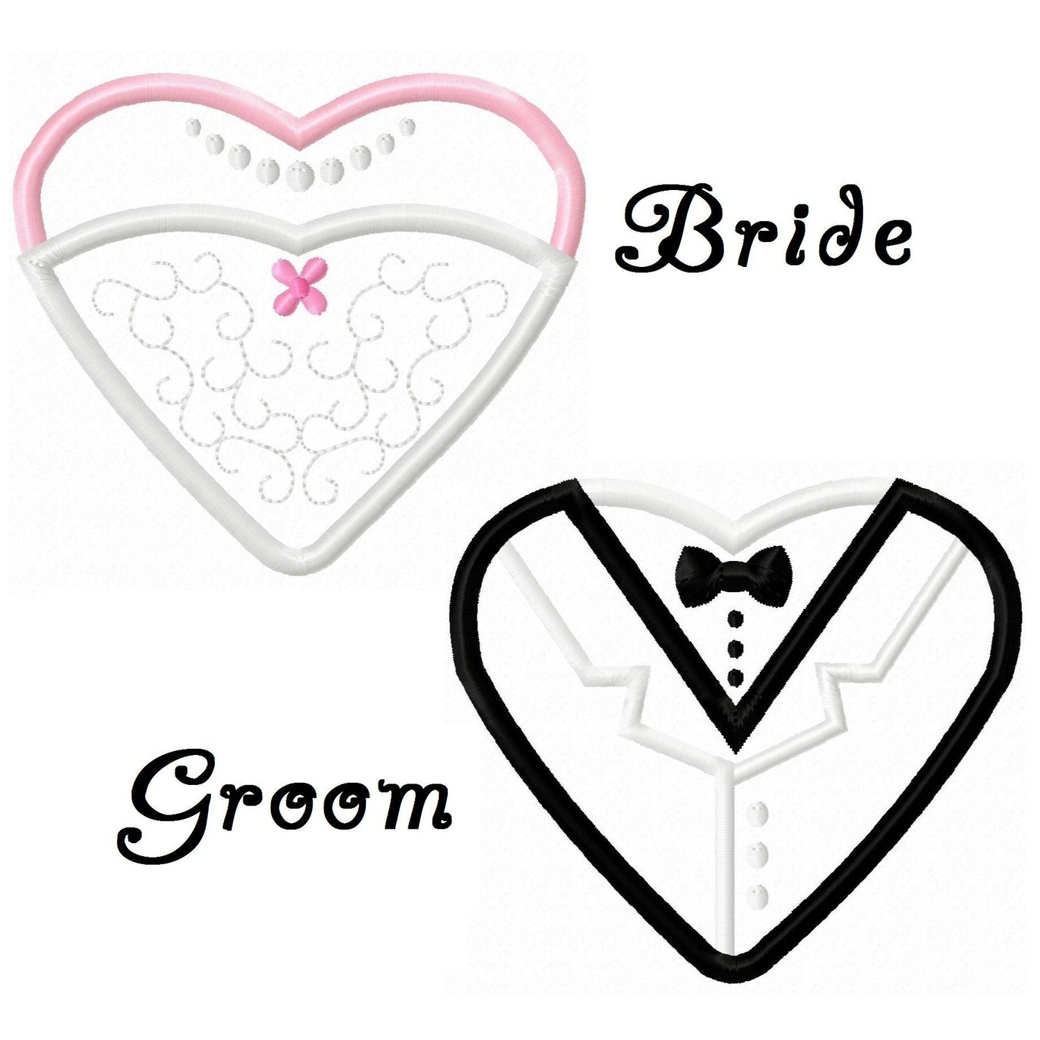 hight resolution of wedding dress and tuxedo clipart