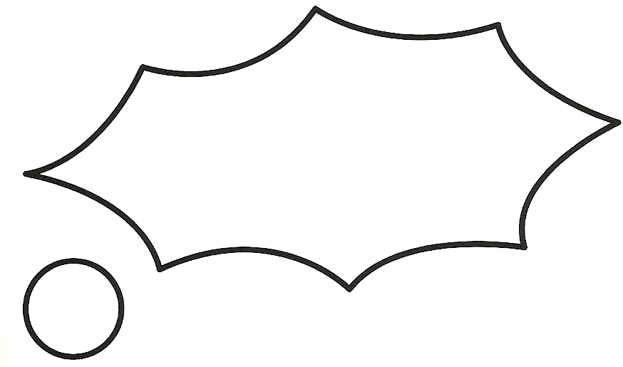 Holly Cut Out Pattern Clip Art Library