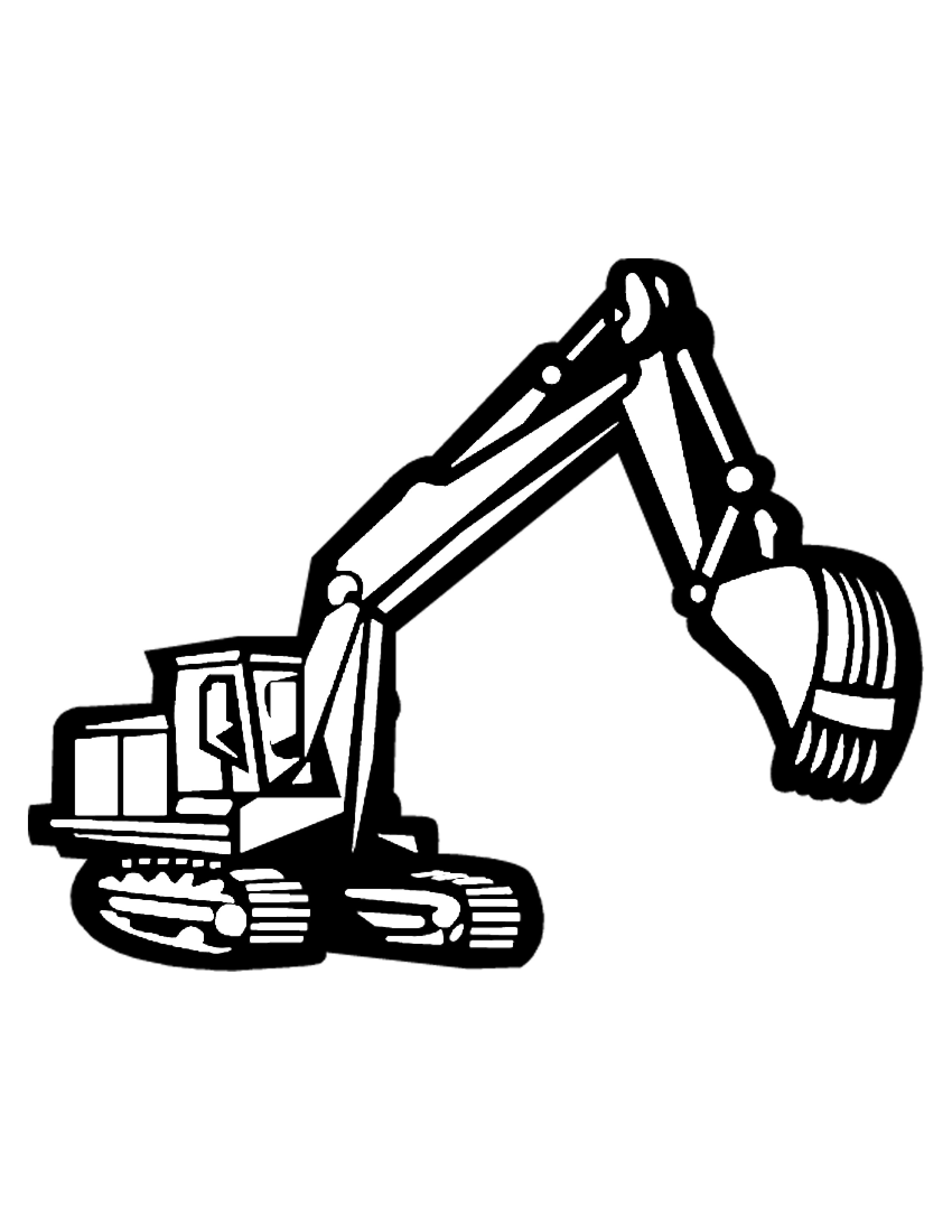 Trackhoe Clipart : trackhoe, clipart, Excavator, Clipart, Black, White,, Download, Library
