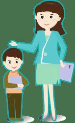 Transparent Teacher And Student Clipart