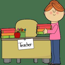 clipart teacher transparent library desk cliparts clip teachers