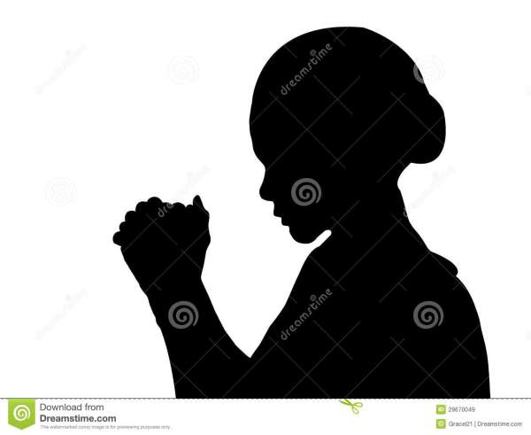 Free Praying Silhouette Cliparts Clip Art