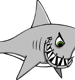 great white shark clipart [ 1945 x 1379 Pixel ]