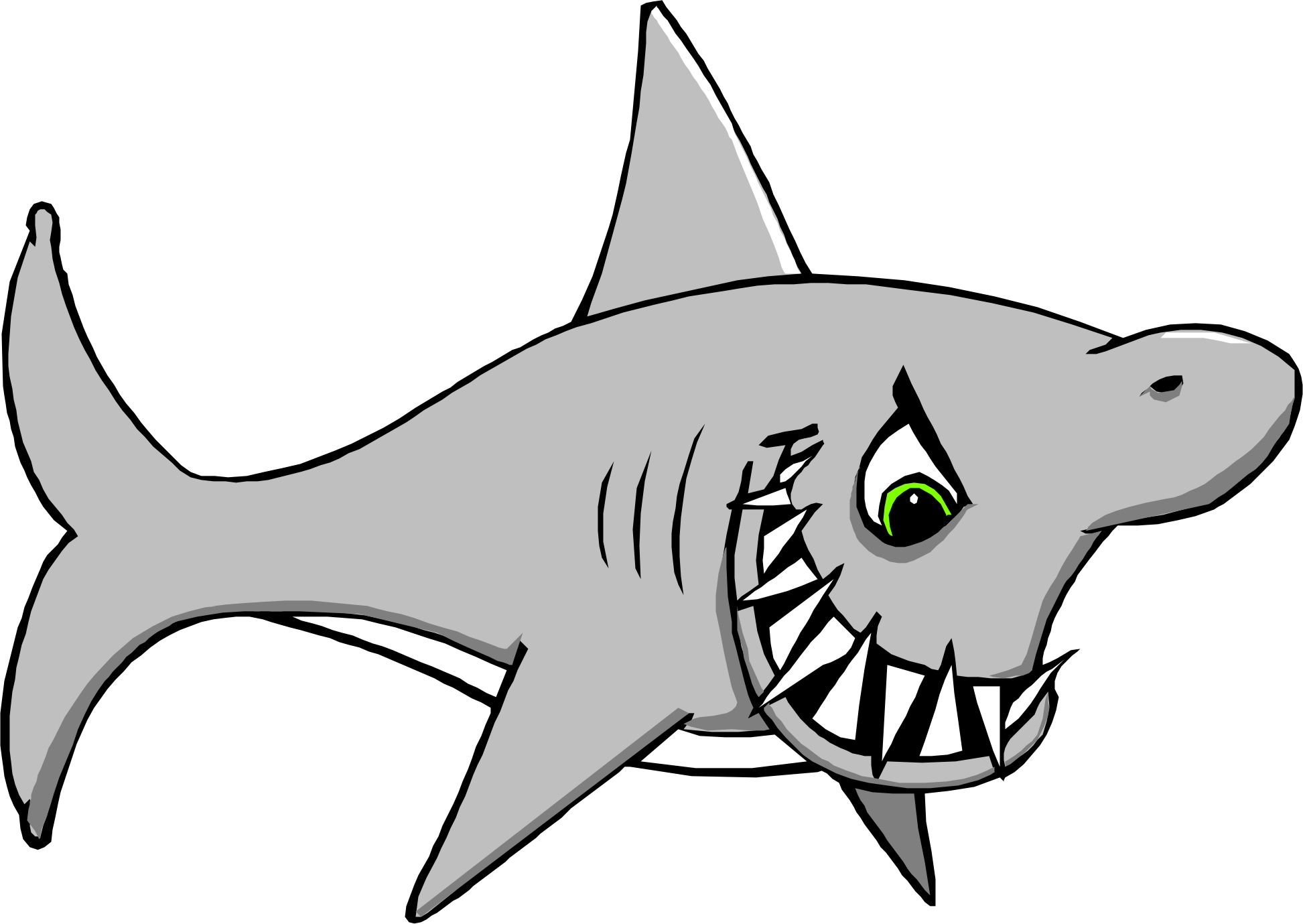 hight resolution of great white shark clipart