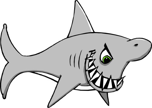 small resolution of great white shark clipart