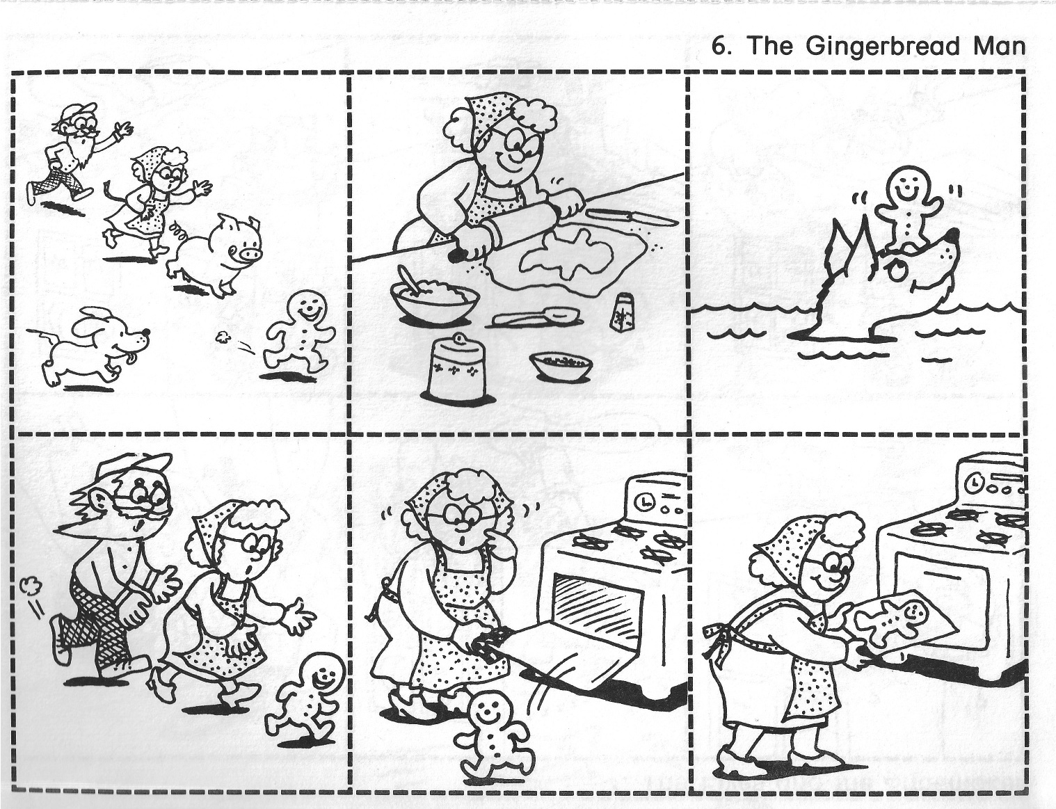 Gingerbread Man Story Clipart