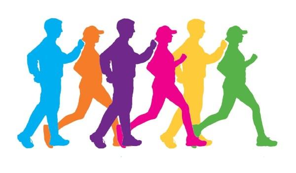 Group Walking Clip Art
