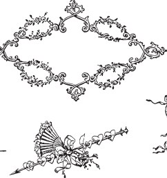 free clipart romantic vintage victorian lady and frame border [ 5194 x 2961 Pixel ]
